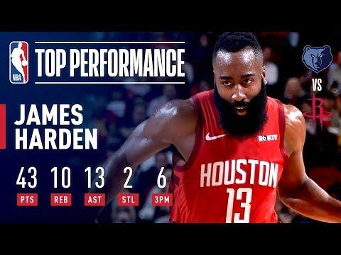 Video: James Harden Drops 40-Point Triple-Double In Win vs Grizzlies   December 31, 2018