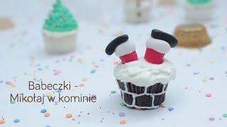 Babeczki - Mikołaj w kominie