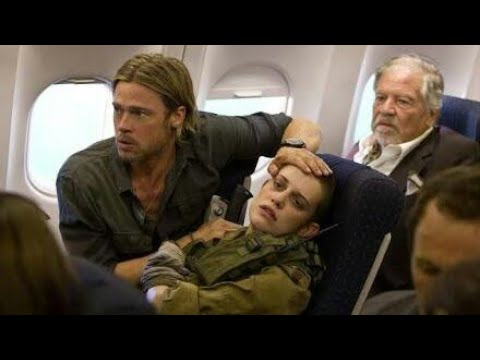 World War Z (2013) |Zombies| Movie Plane Scene dubbed in Hindi.    Zombieland Double tap. Zombieland
