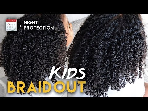Braid hairstyles - KIDS QUICK Natural Hair BRAID OUT + Weekly Maintenance  Naptural85