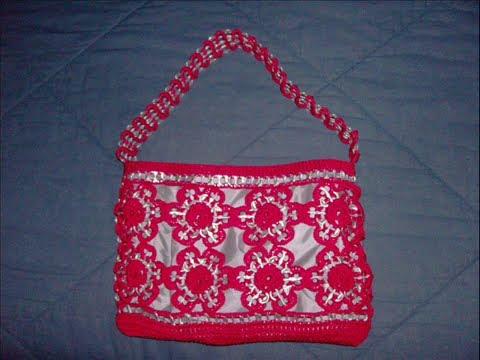 Bolsas tejidas a crochet con arillos - Imagui