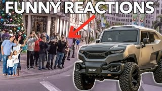 DRIVING A TANK THROUGH BEVERLY HILLS *Funny Reactions*