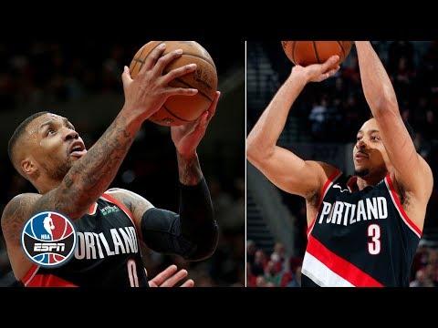 Video: Damian Lillard, CJ McCollum shoot lights out, charge Blazers in win vs. Spurs   NBA Highlights