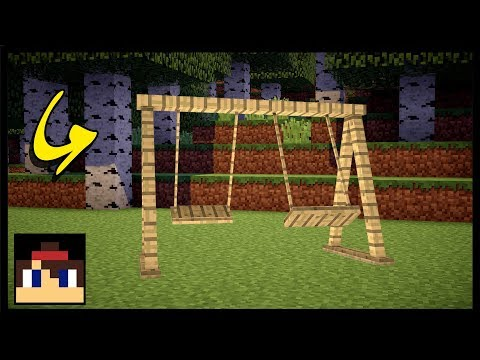 ✔ Minecraft PE: How To Make A Working Swing Set | No Mods Or Commands! (видео)