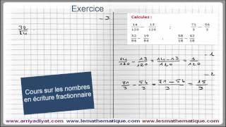 Maths 5ème - Les nombres en écriture Fractionnaire Exercice 3