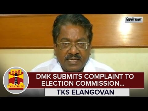 DMK-Submits-Complaint-to-Election-Commission-over-Booth-Slips-as-ID-Proof--Thanthi-TV