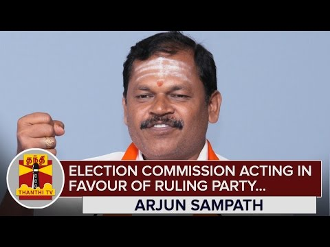 Election-Commission-acting-in-Favour-of-Ruling-Party--Arjun-Sampath--Thanthi-TV