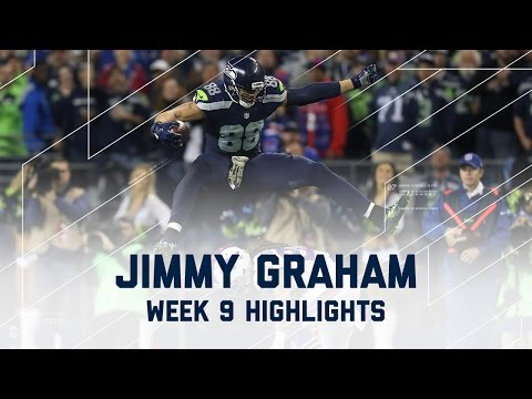 Video: Jimmy Graham Goes Off for 2 TDs on Monday Night Football (Week 9) | Game Highlights | NFL