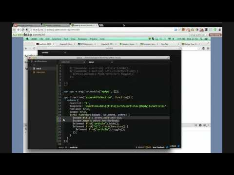 AngularJS Directives – Codementor Office Hours with Tero Parviainen