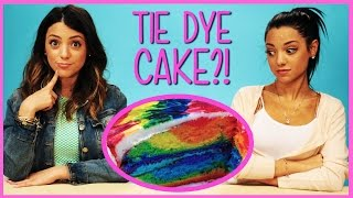 NikiAndGabiBeauty Rainbow Tie Dye Cake?! | Niki and Gabi DIY or Di-Don't