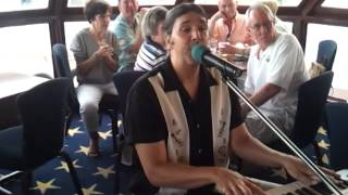 Joe Marino entertaining on Naples Princess Cruise Lines