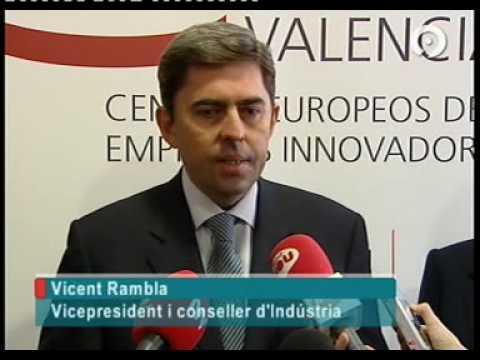 Vicente Rambla visita al CEEI Valencia
