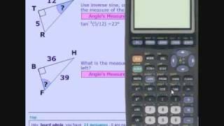 TI 83 Inverse Trigonometric Functions