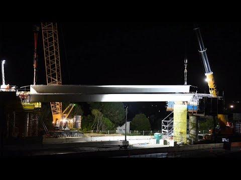 Bridge 25 beam installation – 12 March 2019