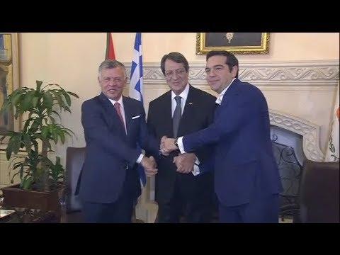 Στο Προεδρικό Μέγαρο για την Τριμερή Ελλάδας – Κύπρου – Ιορδανίας, ο Αλ. Τσίπρας