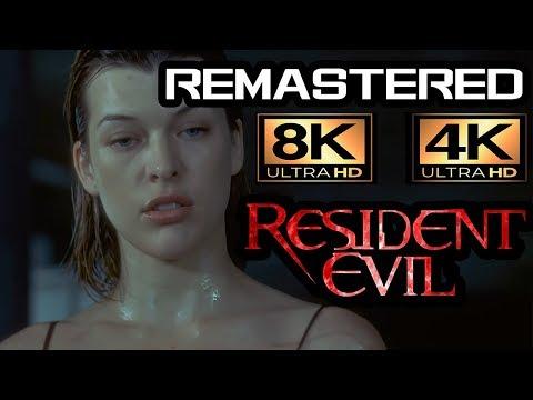 RESIDENT EVIL 2002 | UHD 8K ALICE KILLS SPENCE remastered scene | Machine learning 4K