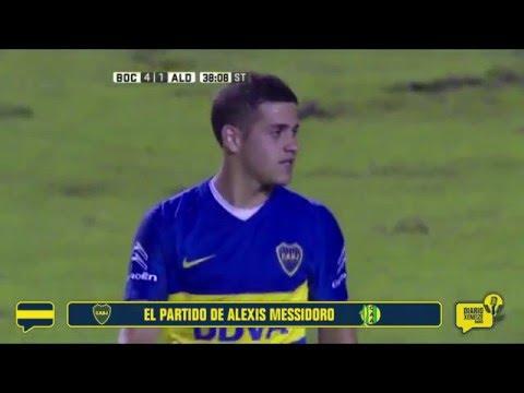 Primer gol oficial de Messidoro en Boca Juniors
