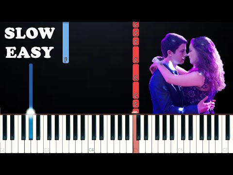 13 Reasons Why - The Night We Met (SLOW EASY PIANO TUTORIAL) Lord Huron