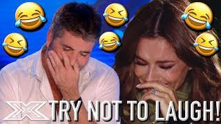 Video Try Not To Laugh Challenge! HILARIOUS X Factor Auditions | X Factor Global MP3, 3GP, MP4, WEBM, AVI, FLV Agustus 2019