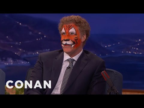Will Ferrell Shows Up to Conan in Full Tiger Face