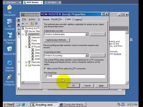 Cấu hình VPN Client to Site su dung PPTP va L2TP IPSec