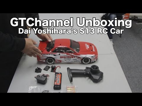 e10 - Subscribe here: http://bit.ly/K8F2fa You've seen Daijiro Yoshihara's Discount Tire/Falken Tire S13 on GTChannel, here's HPI Racing's RC car unboxing video by Mike Kojima. This is a scaled-down,...