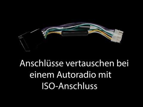 Anschlüsse vertauschen bei einem Autoradio mit ISO-Anschluss