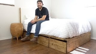 DIY Modern Platform Bed With Storage | Modern Builds | EP. 56 | How-To