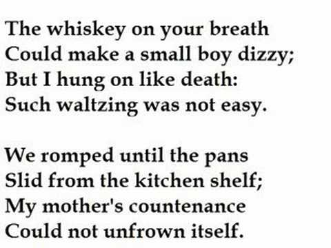 essay about the poem my papa waltz