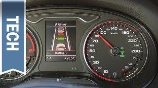 Audi ACC Adaptive Cruise Control Erklärung, Demo, Anleitung (Q5 Modell 2013) German
