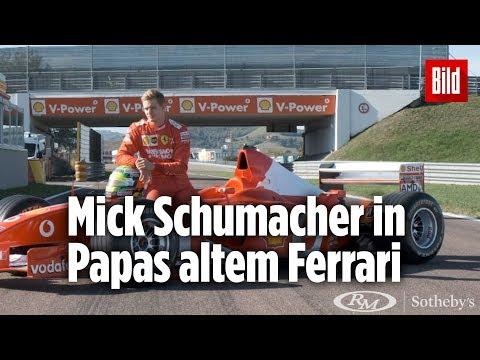 Hier fährt Mick Schumacher Papas Ferrari | Werbeclip vor Versteigerung
