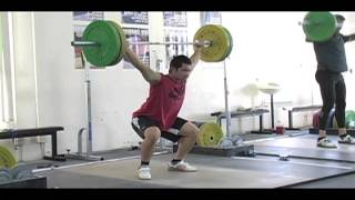 Daily Training 10-8-12 - Weightlifting training footage of Catalyst weightlifters. Steve block power snatch, Alyssa back squat, Eastman power snatch, Audra power snatch. - Catalyst Athletics Olympic Weightlifting Videos