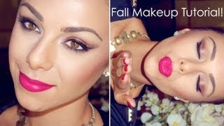 Fall Makeup Tutorial♥ Bronzed Eyesjeweled Tone Lips