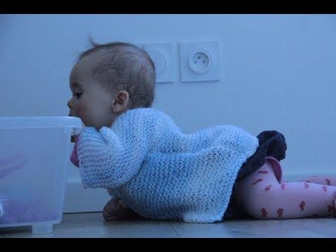 Tricot: gilet bébé hyper facile