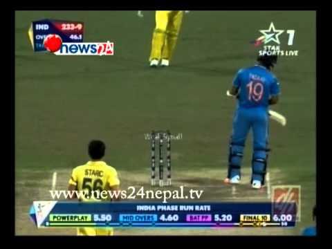 भारतको सपना ९५ रनले चकनाचुर पार्दै अष्ट्रेलिया विश्वकप क्रिकेटको फाइनलमा