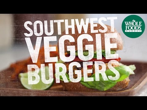 veggie - Whole Foods Market® Chef Chad Sarno whips up a delicious batch of Southwest Veggie Burgers. Get the recipe: http://www.wholefoodsmarket.com/recipes/3137 SUBS...
