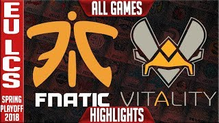 Video FNC vs VIT Playoffs Highlights ALL GAMES | EU LCS Semi final Spring 2018 | Fnatic vs Vitality MP3, 3GP, MP4, WEBM, AVI, FLV Juli 2018
