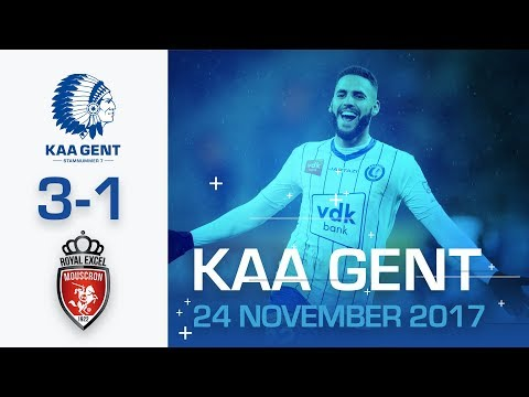🎬  KAA Gent - R Excel Mouscron (3-1) (видео)