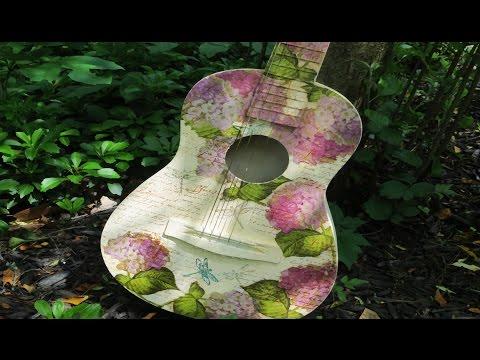 decoupage su chitarra