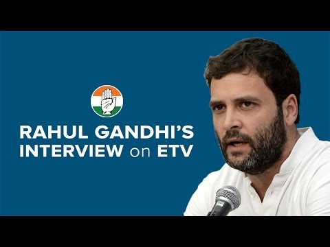 Etv - Congress Vice President Rahul Gandhi's interview with ETV on April 22, 2014. Rahul Gandhi talks about the Congress' ideology and agenda for the future.