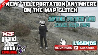 Whats up guys welcome back to Way2Fast Gaming channel todays GTA 5 online video is (Super Easy) *NEW* 'TELEPORTATION ANYWHERE ON THE MAP GLITCH XBOX ONE PS4 ...