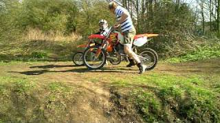 1. CR 80 BIG WHEEL vs KTM 50 SX PRO SENIOR