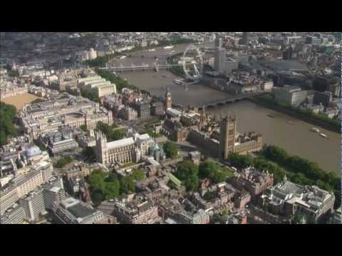 Aerial Shots - London panoramas, Buckingham Palace, Big Ben, Tower, White Hall, Trafalgar Square, National Gallery, Serpentice, Hyde Park, Canary Wharf, and more!