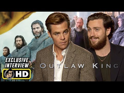 Chris Pine, Aaron Taylor-Johnson Interviews in Scotland for OUTLAW KING