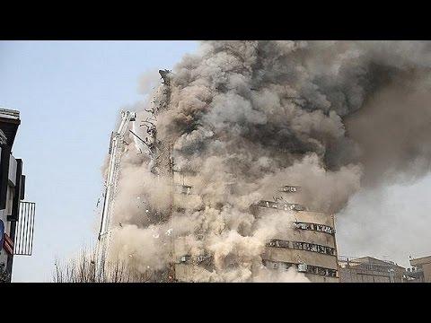 Εφιάλτης στην Τεχεράνη- Κατέρρευσε 17οροφο κτίριο