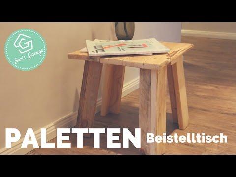 Beistelltisch aus Paletten selber bauen | Upcycling-DIY | Vintage Tisch | How to | Anleitung