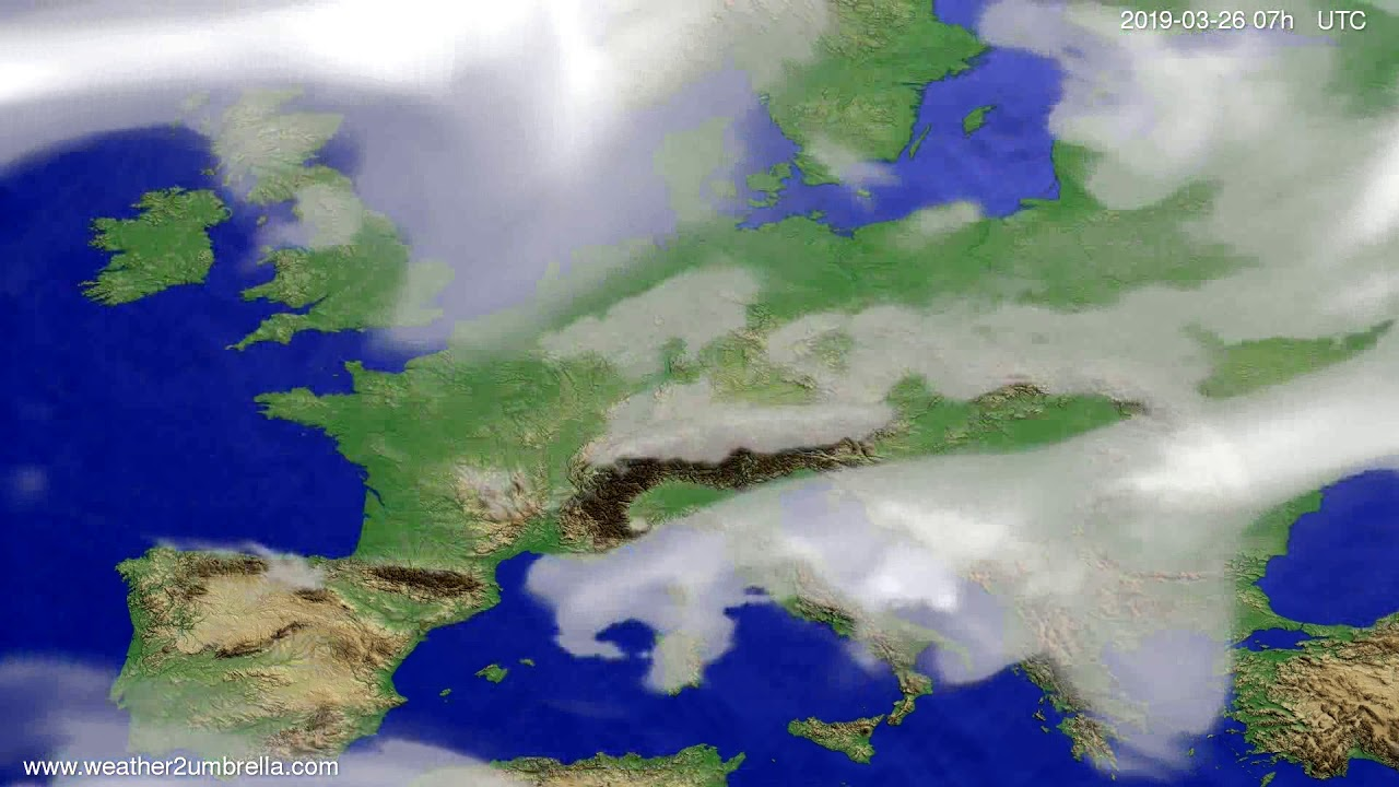 #Weather_Forecast// Cloud forecast Europe 2019-03-24