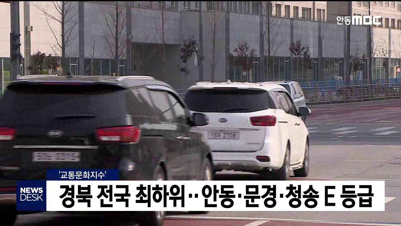 '교통문화지수' 경북 전국 최하위