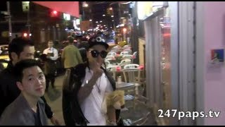 (EXCLUSIVE) Taeyang of the Super group Big Bang getting a TATTOO in NEW YORK CITY (121112)