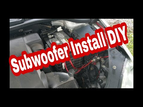 Subwoofer/Amp install on Mk5 Rabbit, GTI, Golf and Jetta